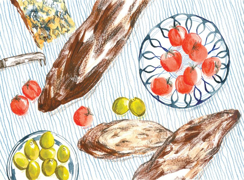 Picnic food illustration