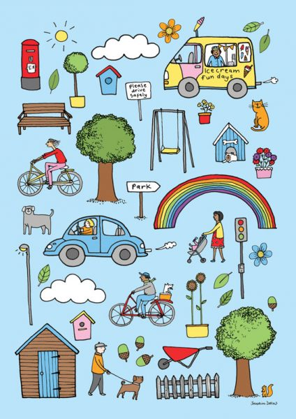 Outdoor Icons Children's Print