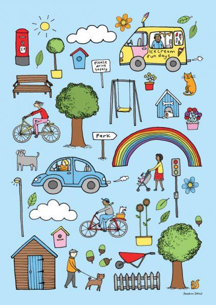 Outdoor Icons Children's Print