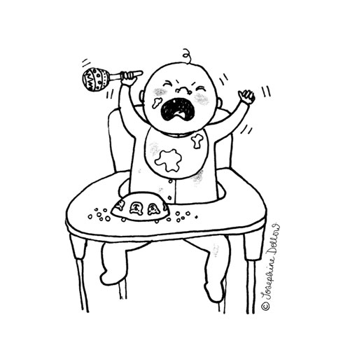 Crying Baby Spot Illustration