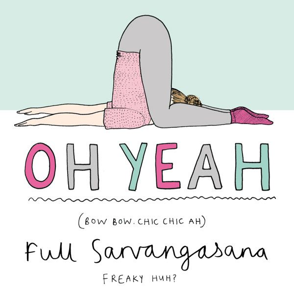 Sarvangasana, yoga illustration