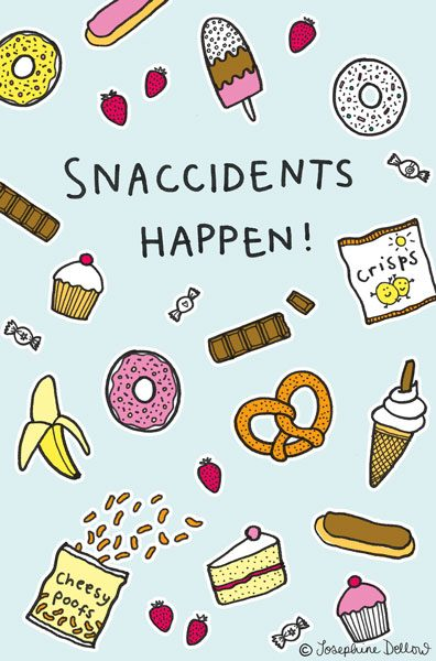 Snaccidents - greetings card design for UK Greetings