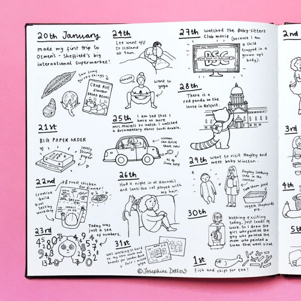 Sketchbook Diary Spot Illustrations