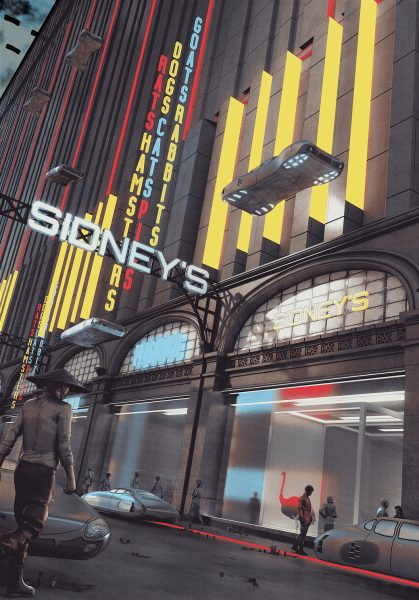 Folio Society / Do Androids Dream of Electric Sheep? / City Scene