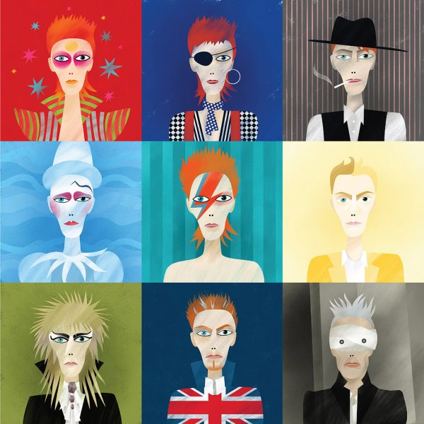 9 Portraits of David Bowie