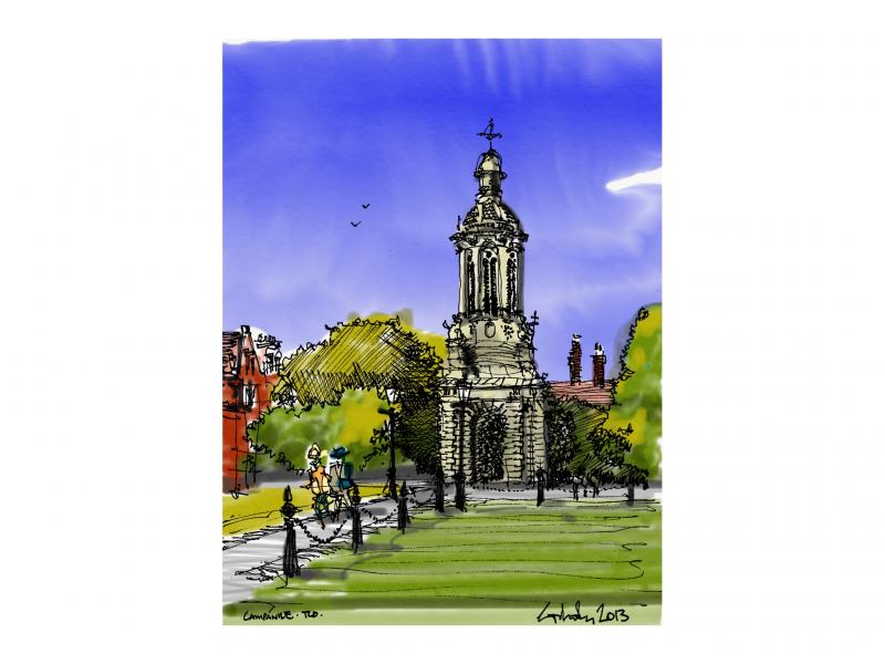 Trinity College Dublin Campanile Colour 2018