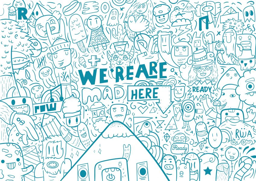 We are mad here doodle