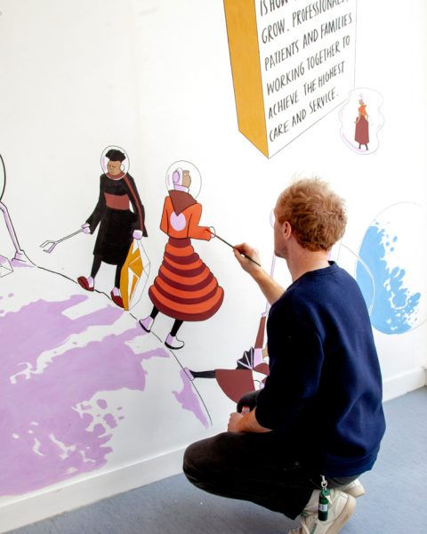 Collaborative mural for NHS Mental Health Centre