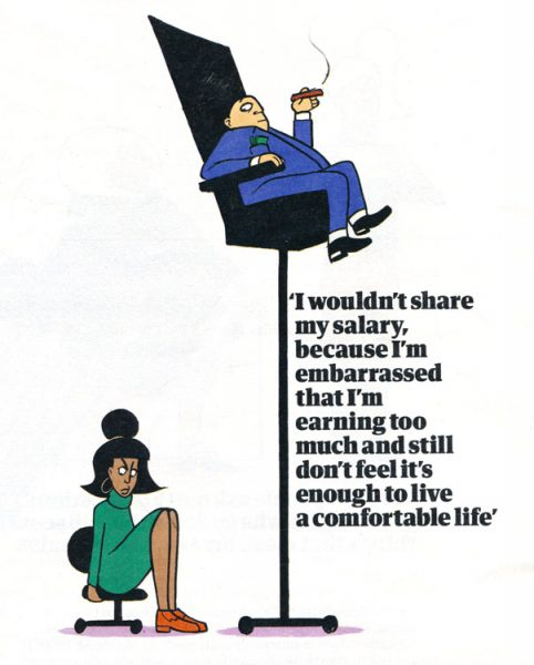 The Guardian Weekend-Magazine - Earnings Illustration inequality