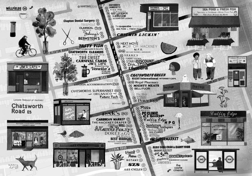 Chatsworth Road Map