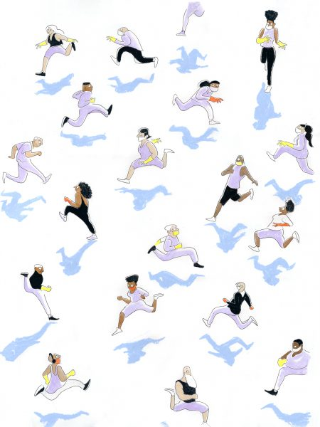 Exercise with social distancing