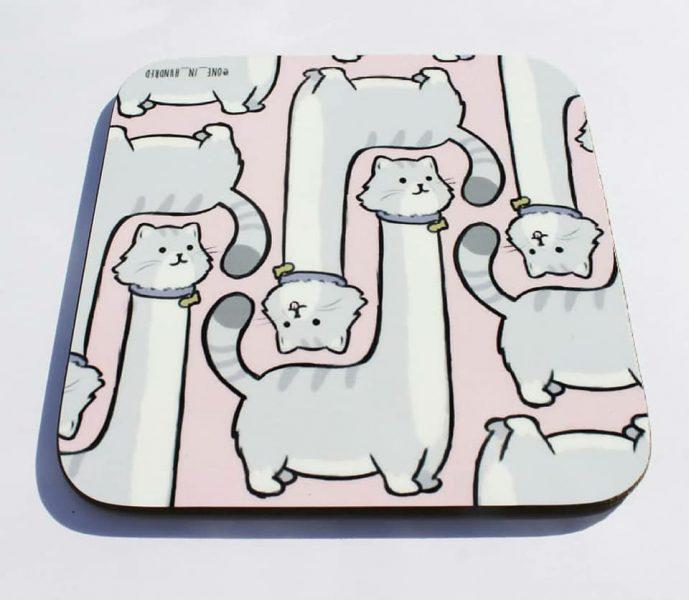 Long Necked Cat Coaster