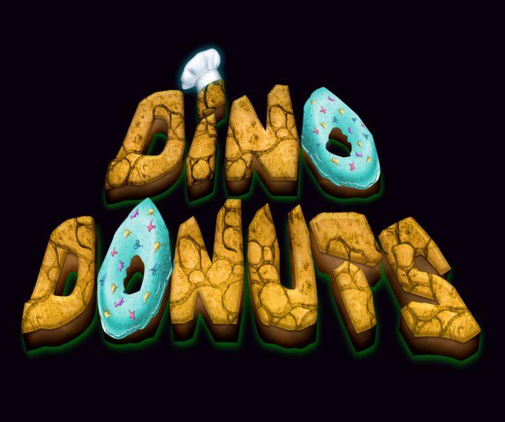 Dino Donuts text logo