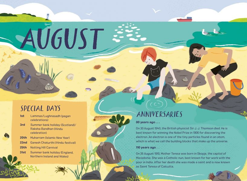 2020: Nature Month by Month - August Double Page Spread