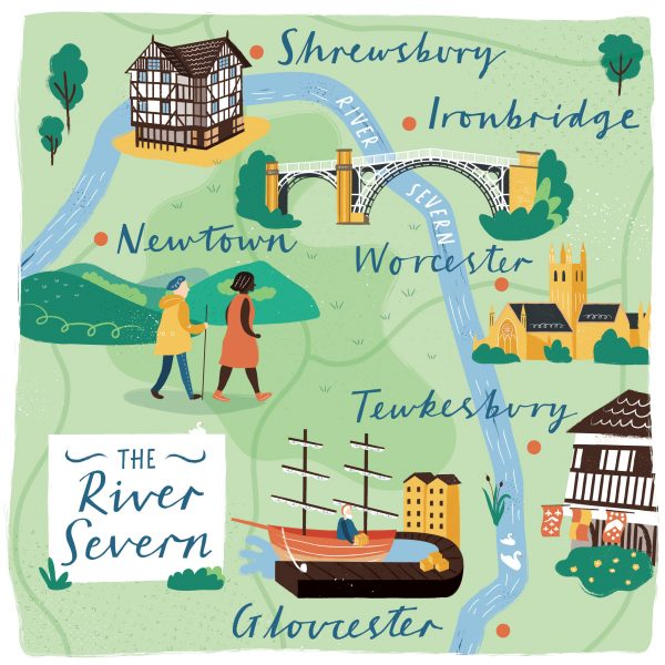 River Severn Map