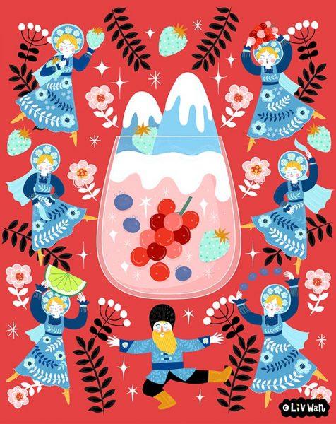 Russian Berries Mule Illustration