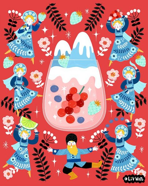 Russian Berries Mule Illustration
