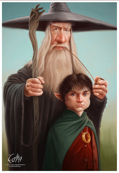 Frodo and Gandalf (GOT)