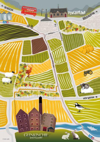 Glenkinchie Distillery Map (diageo)