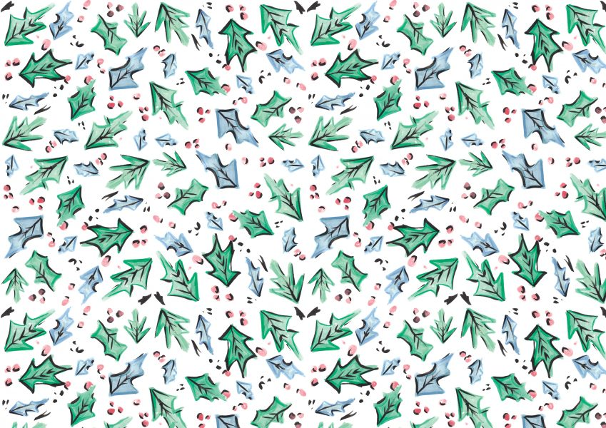 Christmas Holly Pattern