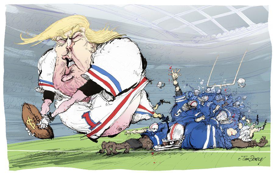 Trump football artwork