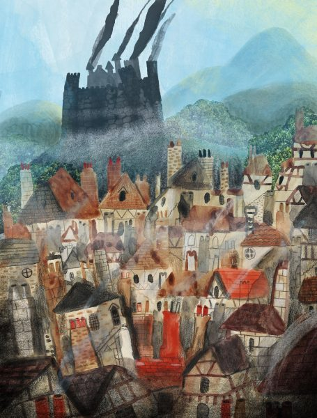 Howls Castle on the Hill - Howls Moving Castle