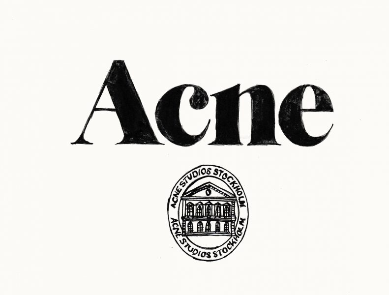 Acne lettering