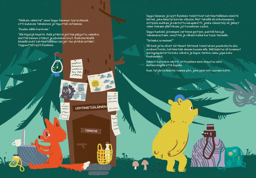 Kids book spread - Jenni Saarenkyla
