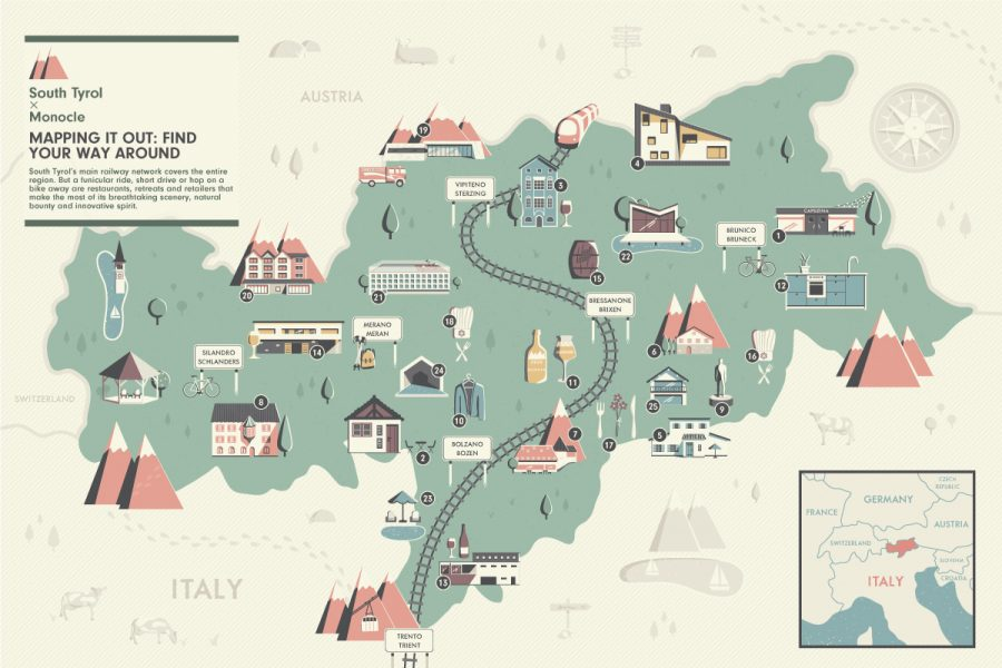 Map of South Tyrol