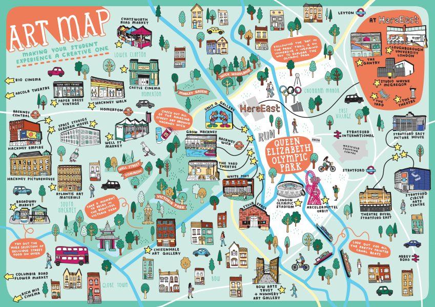 Loughborough University In London Arts Map