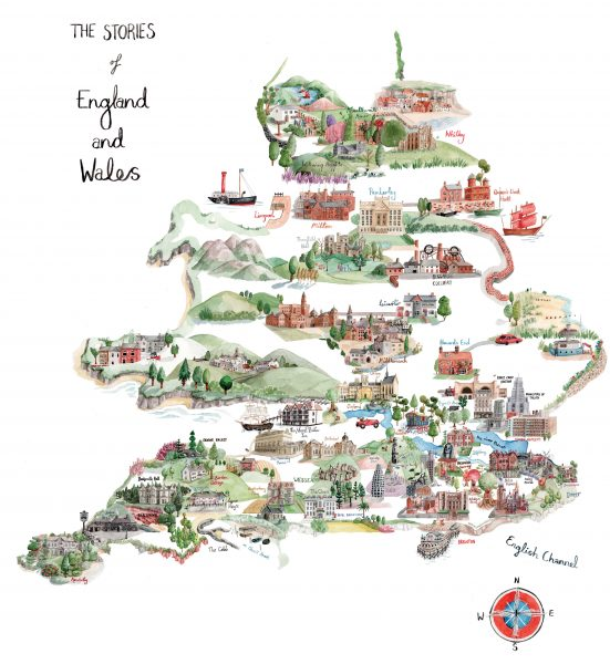 Literary Map of England and Wales