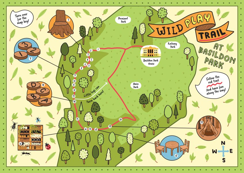National Trust Basildon Park Map