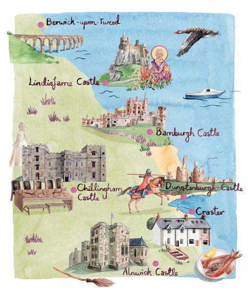 Northumberland Castles for Britain Magazine
