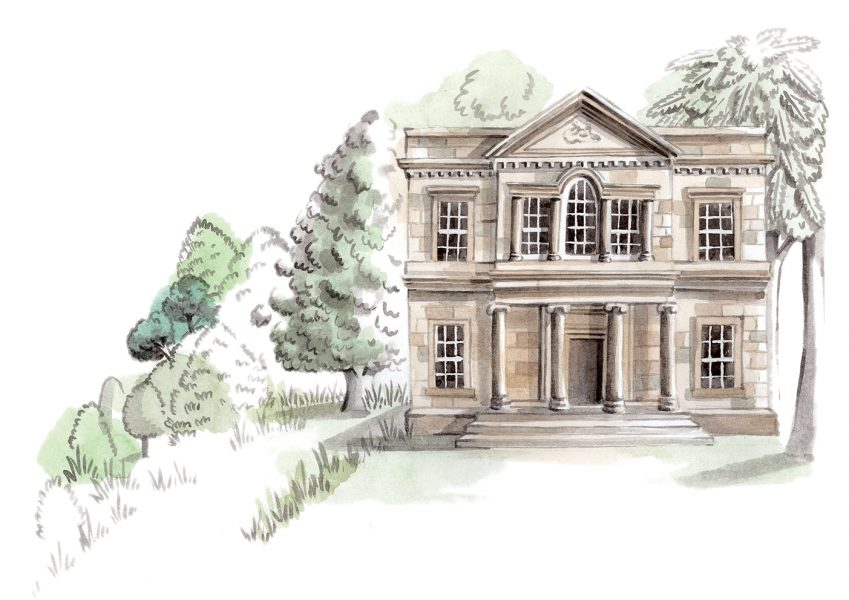 Prospect House, an illustration for the National Trust's Wimpole Estate