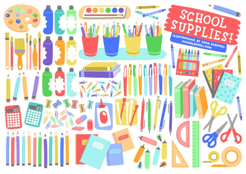 Illustration Collections - School Supplies