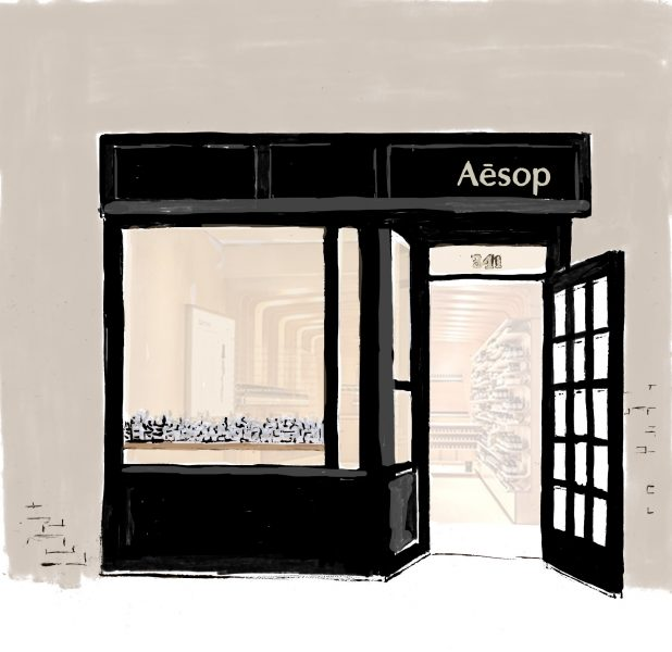 Aesop shop illustration