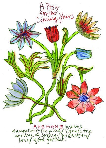 Anemone posy