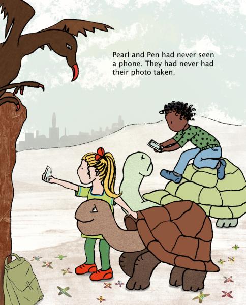 Meeting the fantasy turtles