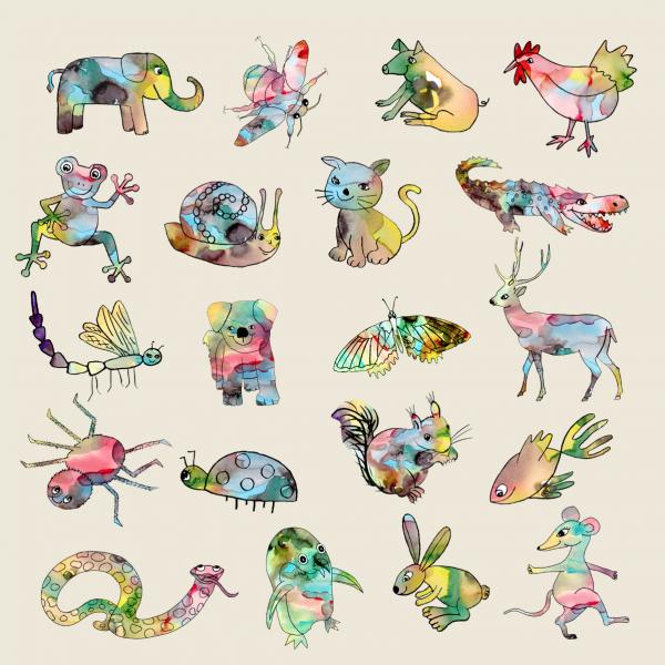 watercolour animals screenshot