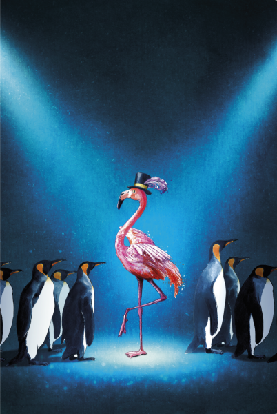 Be the Flamingo at a Penguin Party!