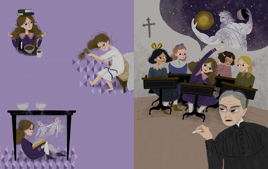 The Girl, Who Became an Astronomer (book illustration)