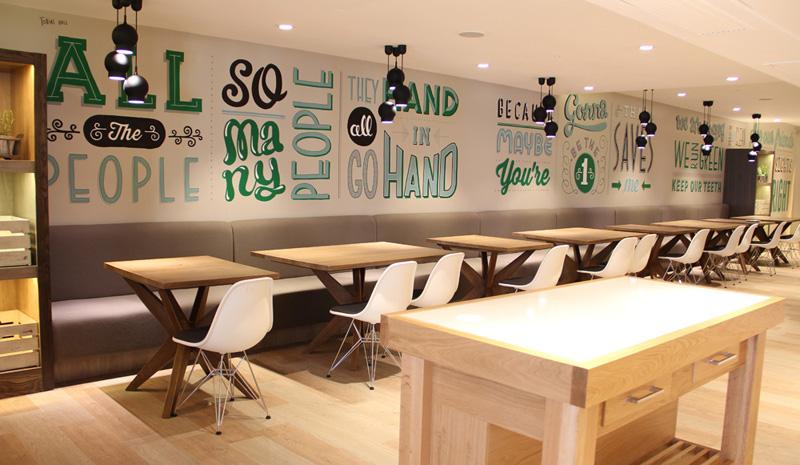 Restaurant Mural / Holiday Inn Restaraunt