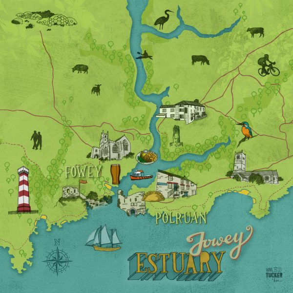 Fowey Estuary map