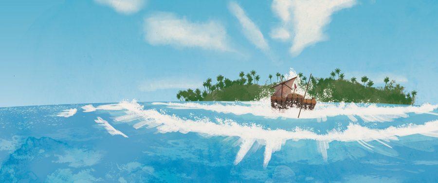 Kon Tiki comes ashore