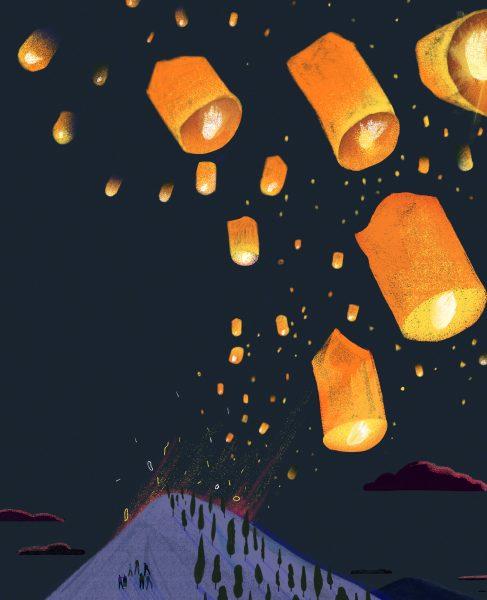 One thousnad lanterns
