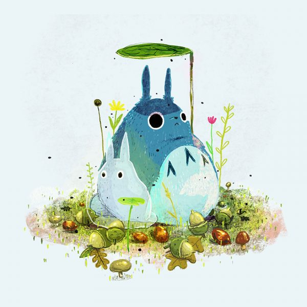 Totoro and acorns