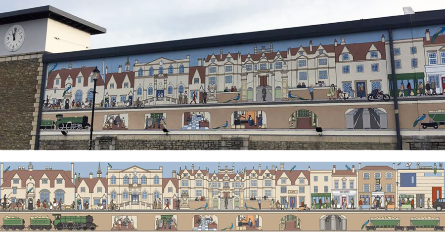 Corsham Historic mural