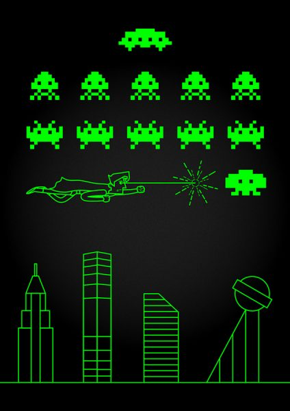 Superman vs Space Invaders