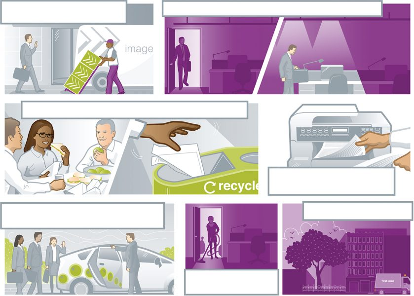 Vector Storyboard for Buzzacott