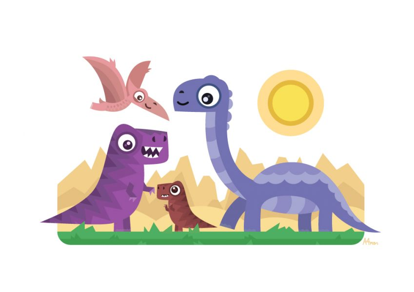 Dinosaurs Picture Book - Vector Art
